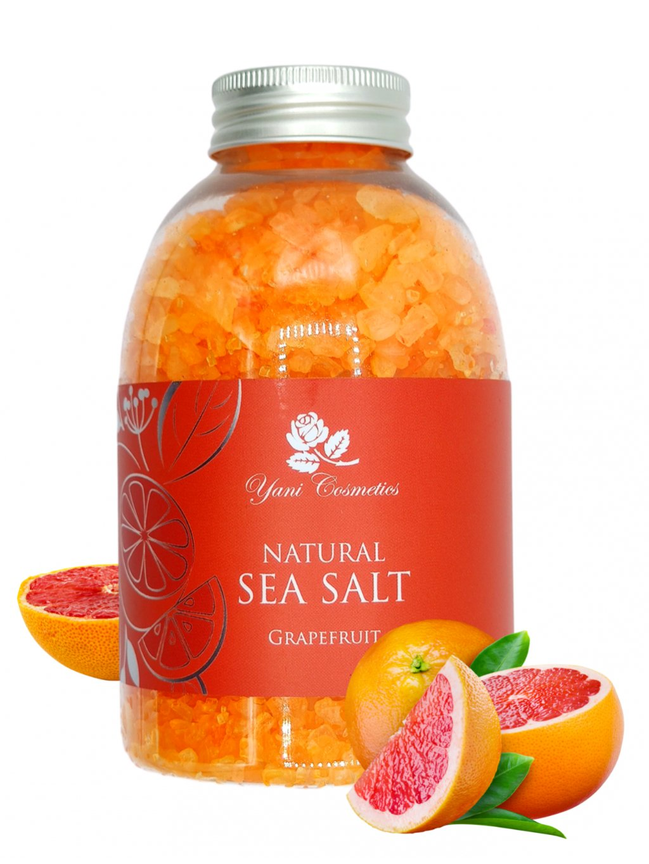 Přírodní mořská sůl do koupele - Grapefruit 500g - Minimální spotřeba 8/2021