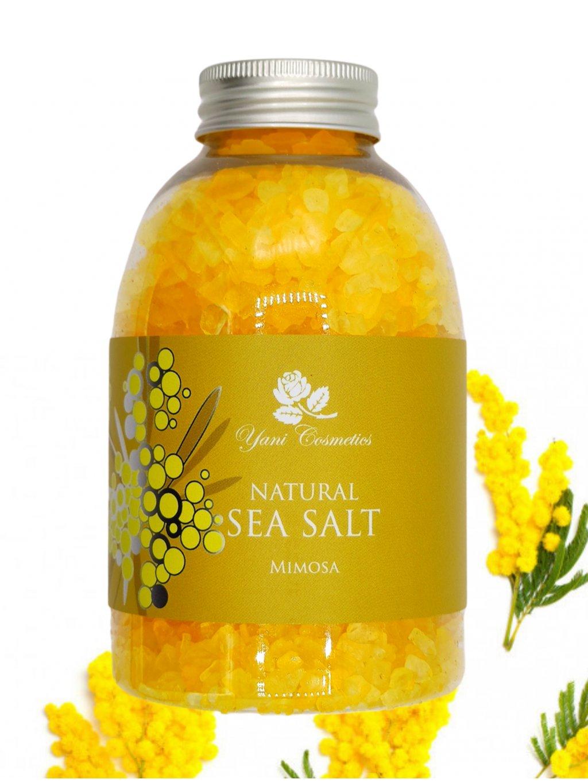 Přírodní mořská sůl do koupele - Mimóza 500g