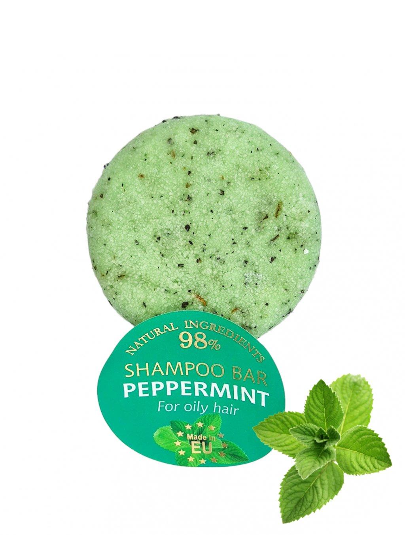 Tuhý šampon - Peppermint 60g