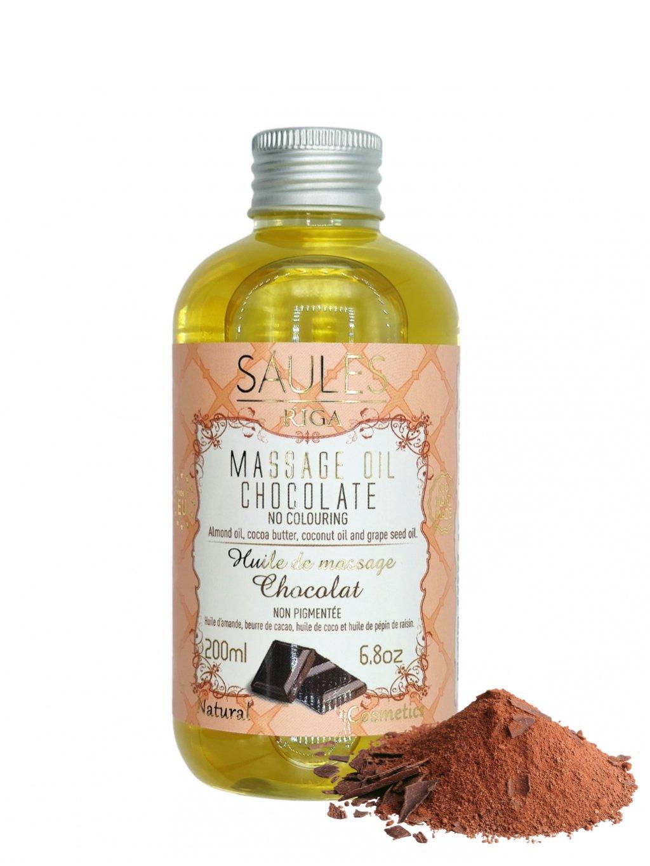 Masážní olej - Čokoláda 200 ml