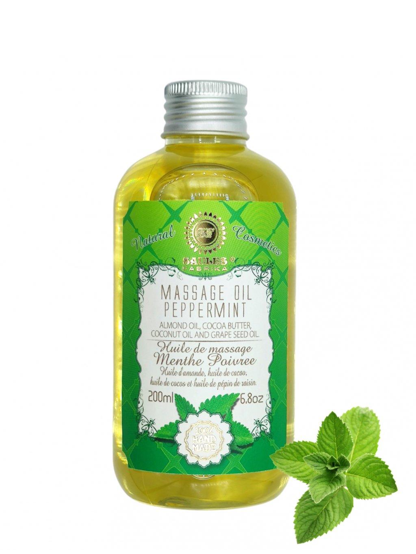 Masážní olej - Peppermint 200 ml