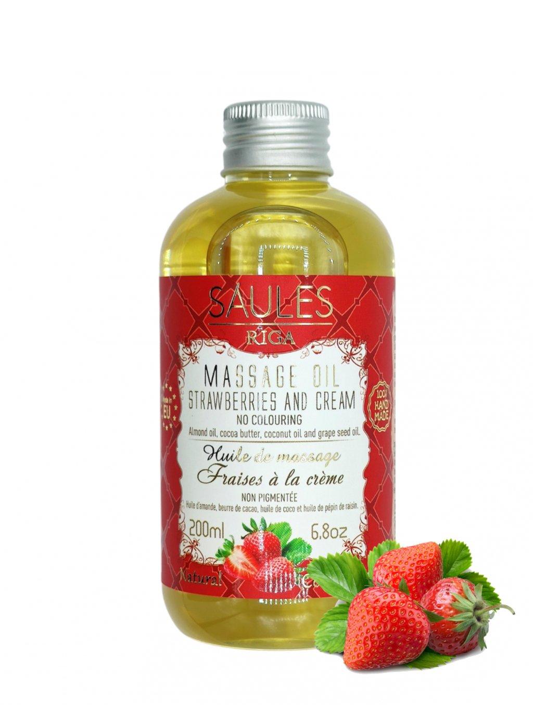 Masážní olej - Jahoda 200 ml