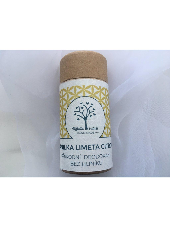 Přírodní deodorant VANILKA-LIMETA-CITRON