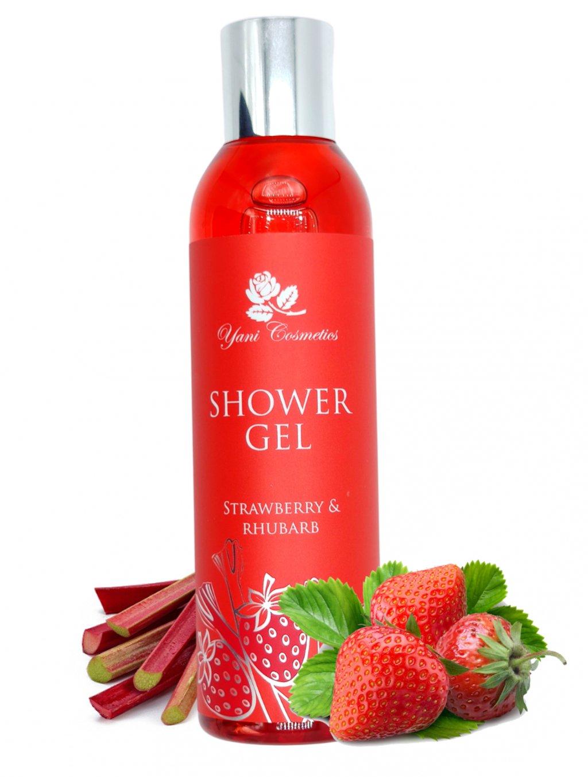 Sprchový gel extra voňavý - Jahoda a Rebarbora 200 ml