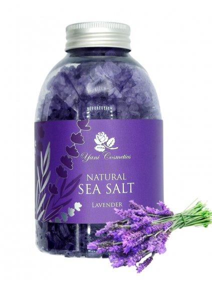 Přírodní mořská sůl do koupele - Levandule 500g - Minimální spotřeba 8/2021