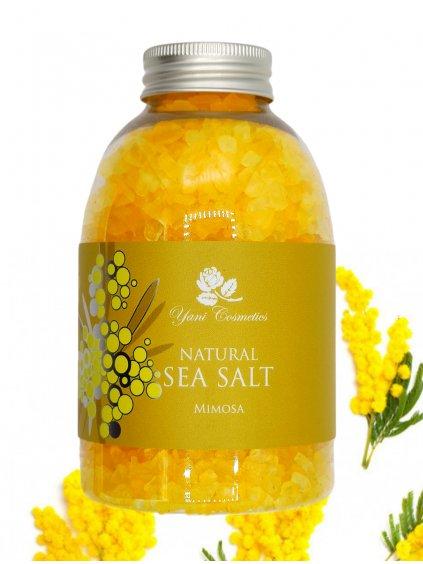 Přírodní mořská sůl do koupele - Mimóza 500g - Minimální spotřeba 8/2021