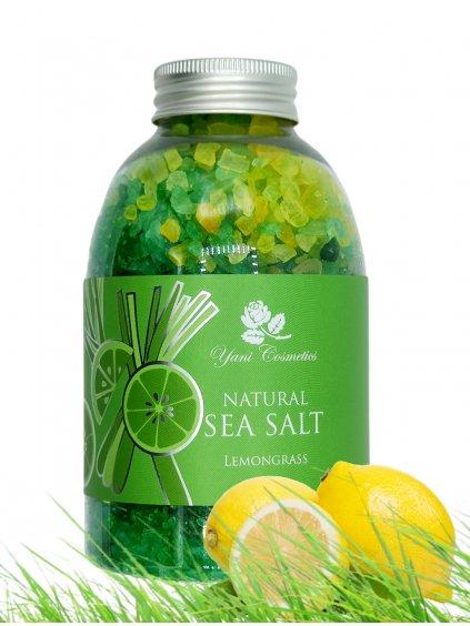 Přírodní mořská sůl do koupele - Citronová tráva 500g