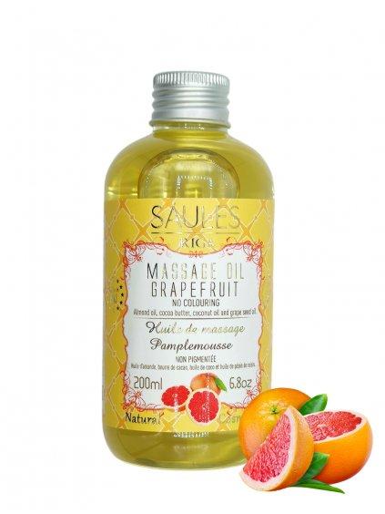 Masážní olej - Grapefruit 200 ml