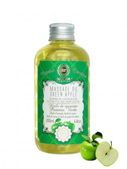 Masážní olej - Zelené jablko 200 ml