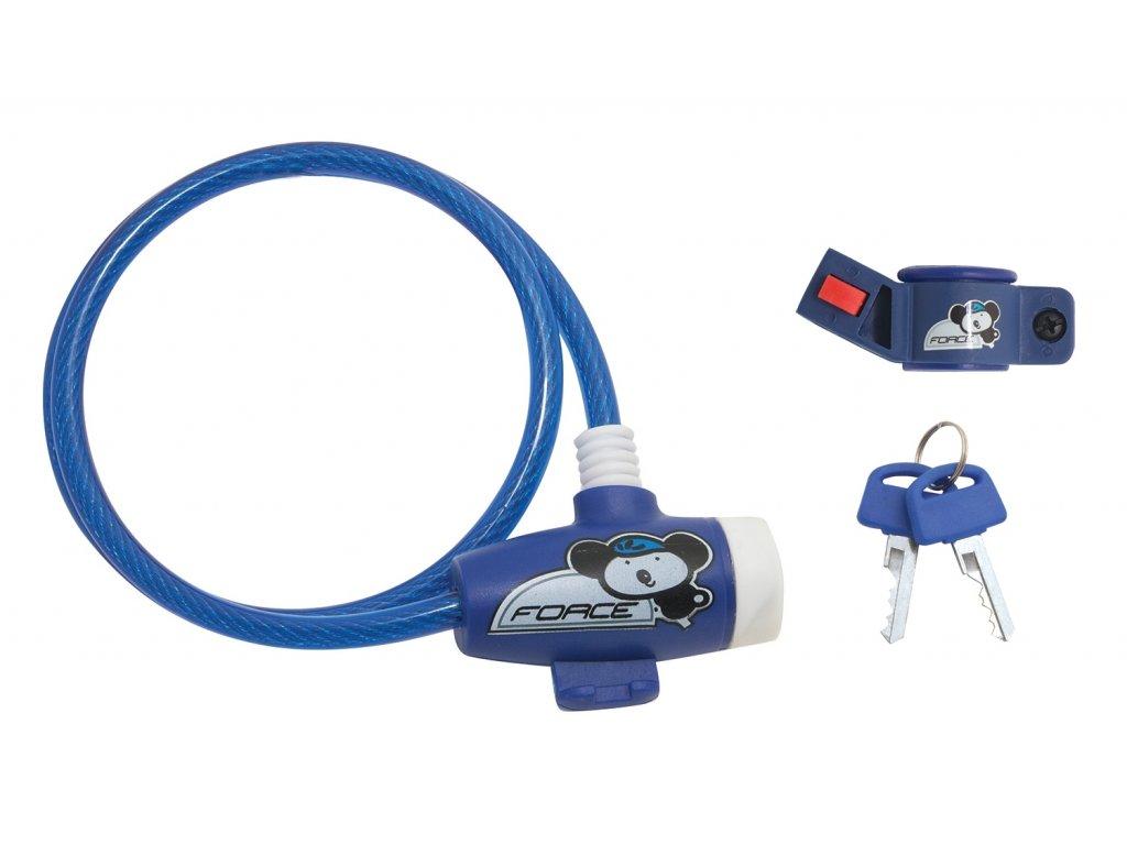 Zámek FORCE dětský s držákem 80cm/8mm, modrý