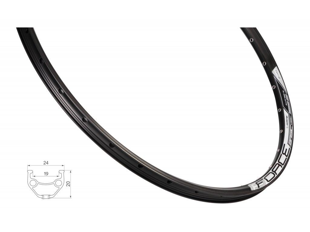 Ráfek FORCE BASIC DISC 559x19 36děr, černý