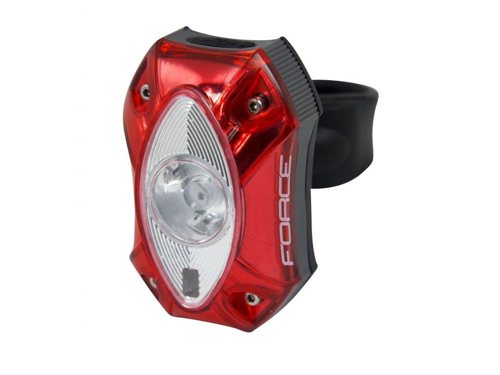 Blikačka zadní FORCE RED 60LM, 1x LED, USB