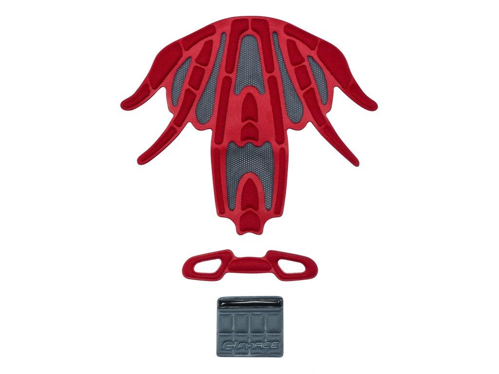Výstelka přilby FORCE REX, červená UNI 5mm