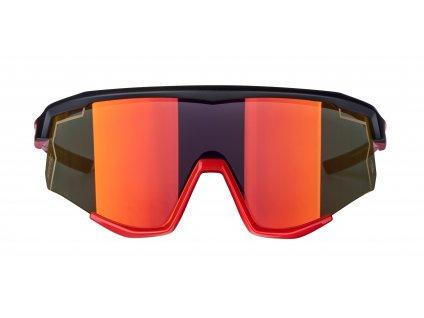 Brýle FORCE SONIC černo-červené, červená zrc. skla