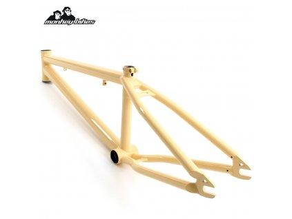 Rám BMX Monkey Bikes Cornelius PRO vanilla cream