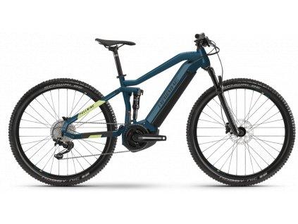 """Haibike Fullnine 5 (2021), rám L/48cm, Yamaha - MTB 29"""" - blue/canary  + 3% sleva po registraci"""
