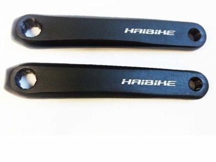 Kliky HAIBIKE pro E-bike  na čtyřhran. osy, černé ,175mm