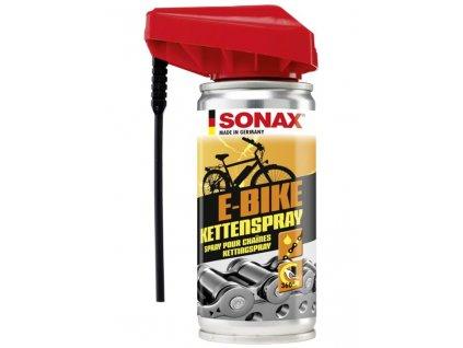 Mazivo na řetěz a ostatní součásti kola. SONAX BIKE Sprej na řetězy 100ml