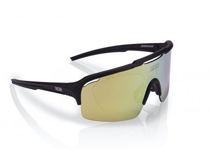 Brýle ARROW OPTIC Black Mirrortronic Gold