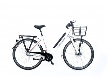 Městské elektrokolo Liveebike CITY LOW STEP white 28""