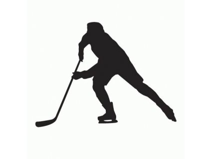 Nálepka silueta hokej  + 3% sleva po registraci | Doprava od 39 Kč