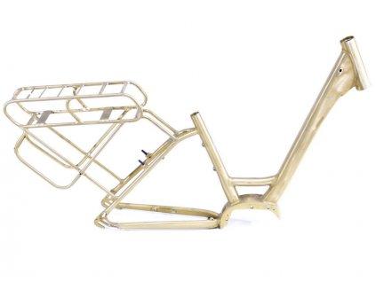 """Rám Treking 28"""" E-bike dámský, pro Motor Shimano STEPS E6000, velikost 21"""", surový bez barvy a polepu"""