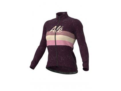 Zimní cyklistický dres ALÉ CLASSIC VINTAGE LADY LS