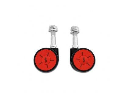 SCICON Set of 2 Multi-Wheels for AeroComfort 3.0 bike bags (black/red)