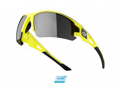 Brýle FORCE CALIBRE fluo žluté, černá laser skla