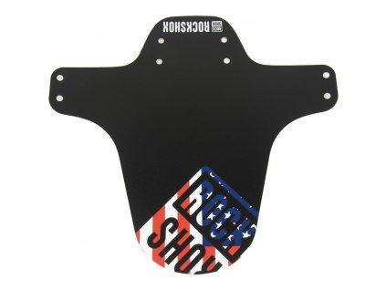 Blatník RockShox MTB černý s USA Flag potiskem