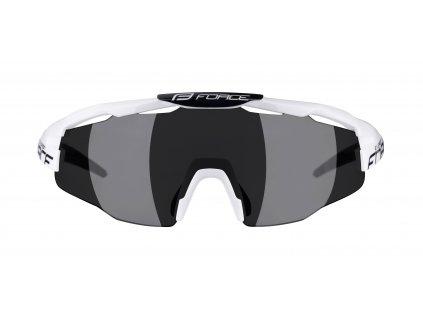 Brýle FORCE EVEREST, bílo-černé, černá skla