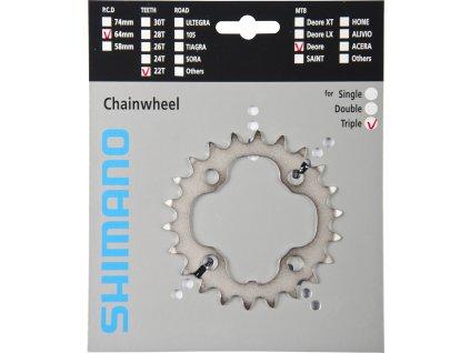 SHIMANO převodník DEORE FCM532 22z, stříbrný