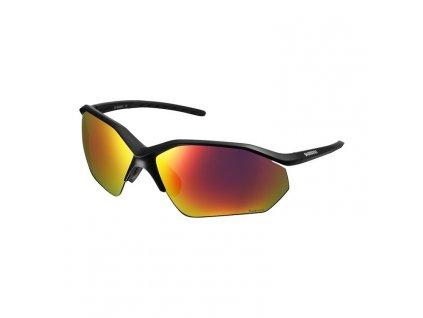 SHIMANO brýle EQNX3 matná černá, skla polarizační D šedá červená MLC