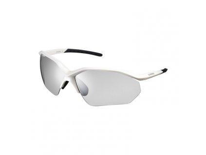 SHIMANO brýle CE-EQNX3PH, metalická bílá, skla fotochromatická šedá