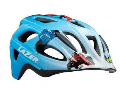 LAZER přilba P'nut CE/ modrá racer boy + net