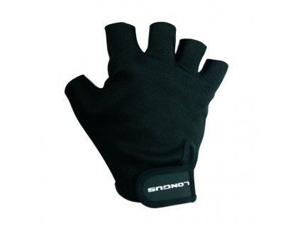 LONGUS dětské rukavice START 06, černé,
