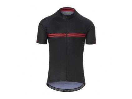 Dámský dres GIRO Chrono Sport Jersey Black/Red Classic Stripe