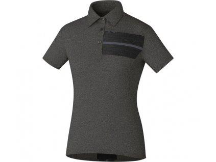 SHIMANO dámské Transit Polo tričko, Havraní, (W's size)L
