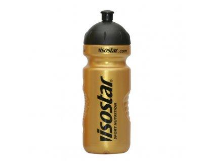 Láhev Isostar 0,65 l zlatá/černá cyklo