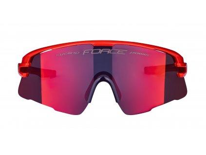 Brýle FORCE AMBIENT červeno-šedé, červ. zrc. skla