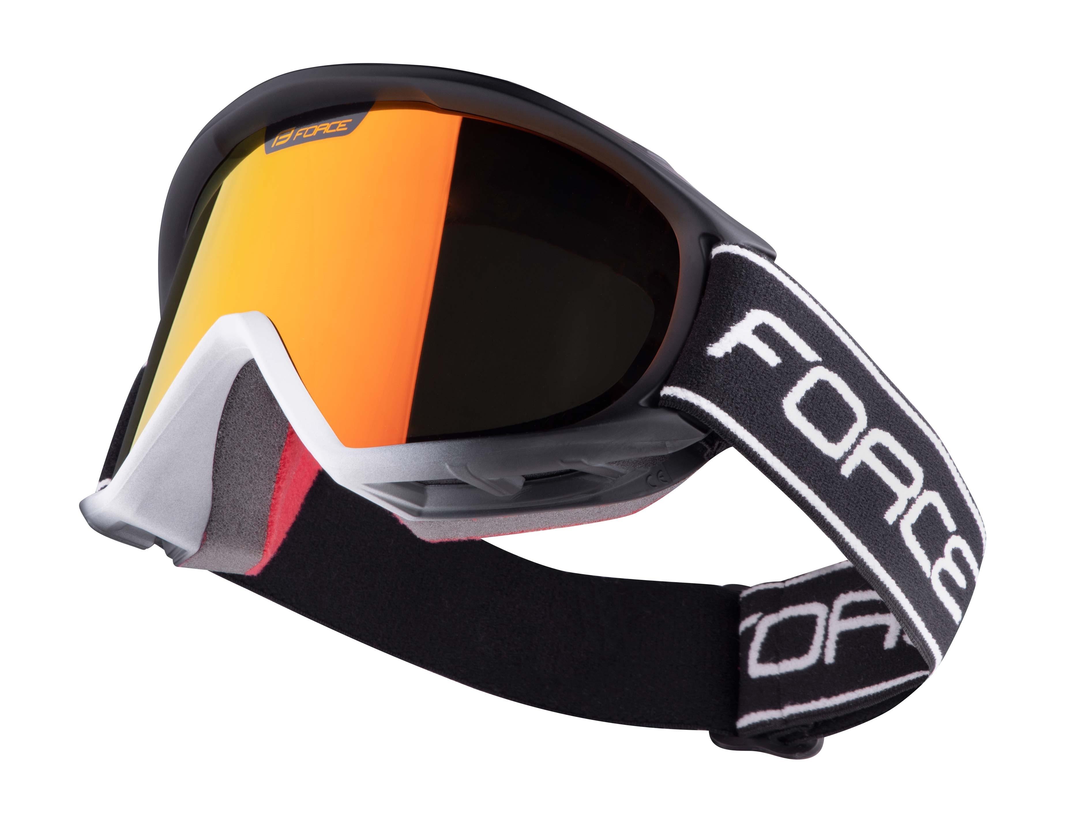 Brýle FORCE SKI SWITCH černé, multilaser sklo Varianta: model: SKI, skla: polykarbonátová, určení: lyžařské, Řada: Red line
