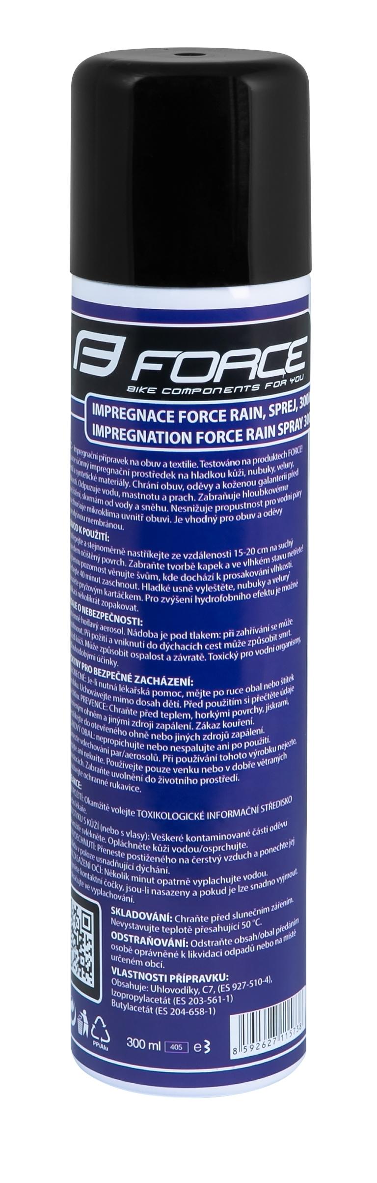 Impregnace FORCE Rain, sprej, 300ml