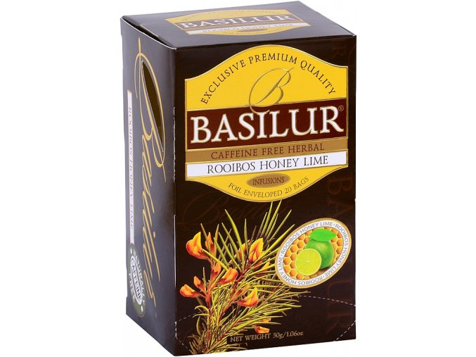 BASILUR Rooibos Honey Lime přebal 20x1,5g