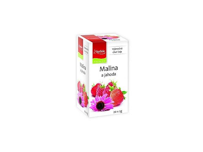 APOTHEKE Malina a jahoda + echinacea 20x2g