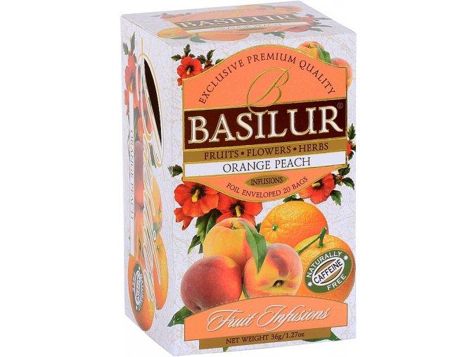 BASILUR Fruit Orange Peach přebal 25x1,8g
