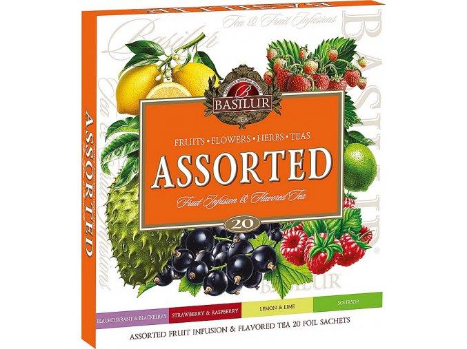 BASILUR Assorted Fruit & Flavoured Tea přebal 20 gastro sáčků