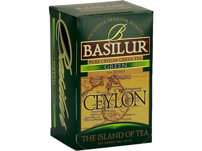 BASILUR Island of Tea Green přebal 20x1.5g