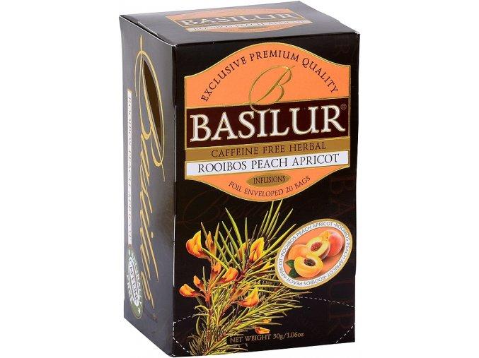 BASILUR Rooibos Peach Apricot přebal 25x1,5g
