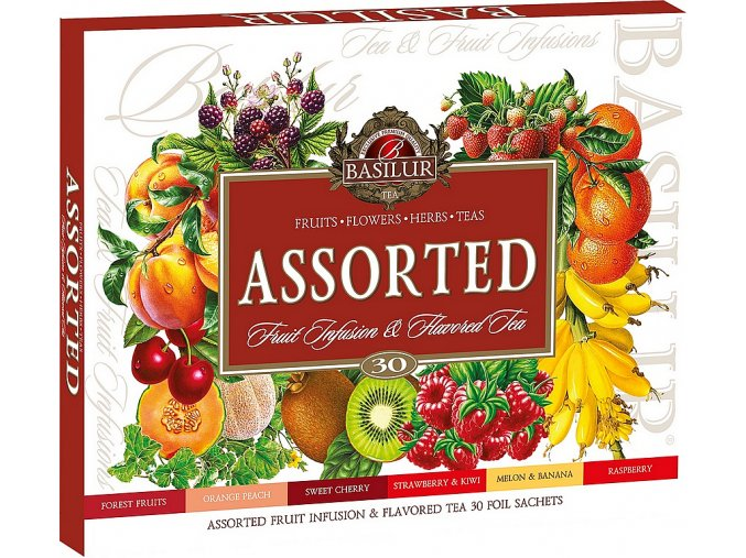 BASILUR Assorted Fruit & Flavoured Tea přebal 30 gastro sáčků