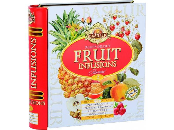 BASILUR Fruit Infusions Book Fruity Delight plech 32x1,8g